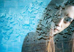 stefano majno girl multi exposure broken glass