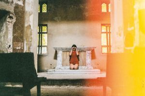 stefano majno she spread sorrow alice mindscapes light infiltration red dress mine album old church.jpg